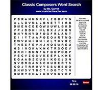 Музична гра онлайн, Знайди імена композиторів-класиків