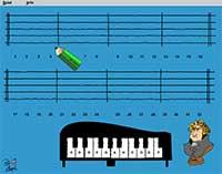 Музична гра онлайн, Музика на нотному стані