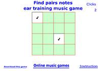 Музична гра онлайн, Знайди два однакові звуки