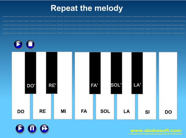 Музична гра онлайн, Повторити мелодію