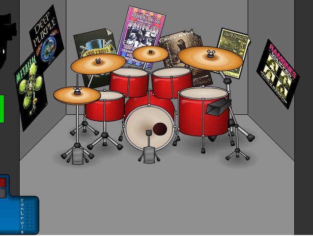 Музична гра онлайн, Віртуальний набір ударних