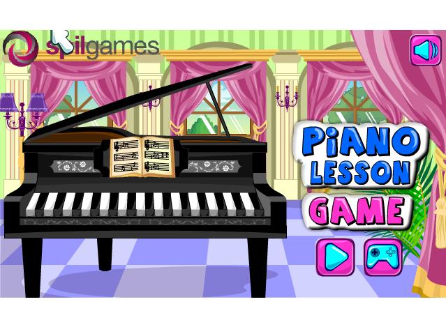 Музична гра онлайн, Уроки гри на піаніно