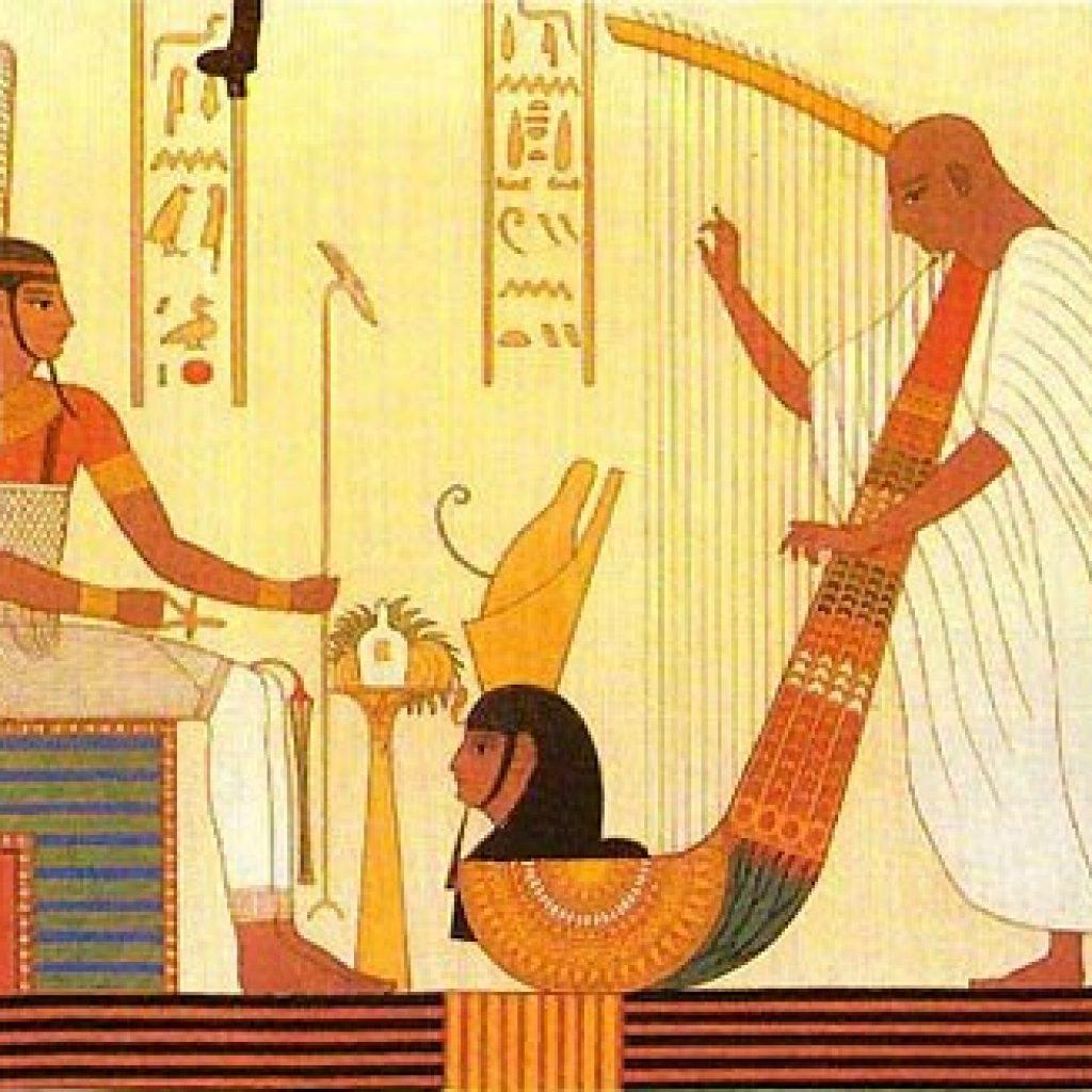 малюнки Давнього Єгипту з музиками
